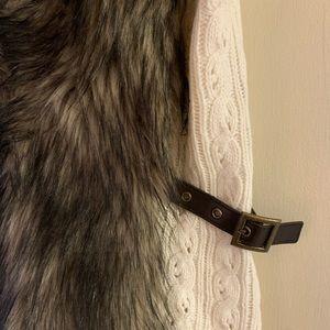 Guess Jackets & Coats - GUESS Vivi Faux Fur vest